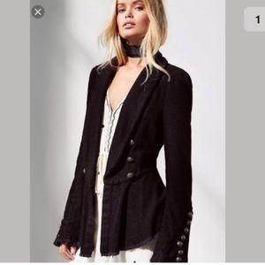 Free People flare lace sleeve blazer